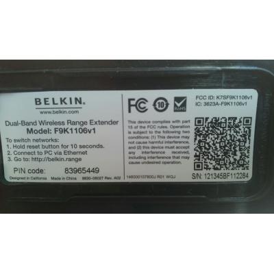 Двухдиапазонная точка доступа Belkin F9K1106 N300